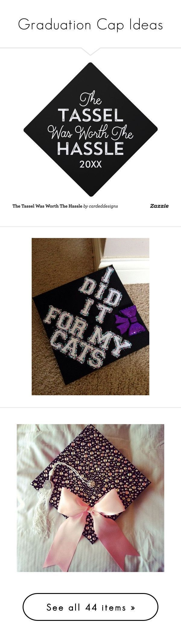 """Graduation Cap Ideas"" by katlyn-loves-music ❤ popular with Polyvore for accessories, hats, graduation hats, caps, graduation caps, Christmas hats -..."