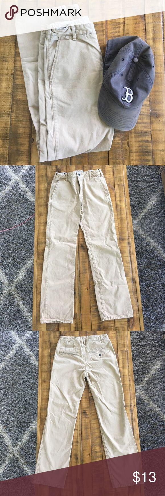 Gap Kids Boys Tan Slim Fit Khaki Pants 🏆 EUC boys Gap chino slim fit khaki pants with adjustable waist. GAP Bottoms
