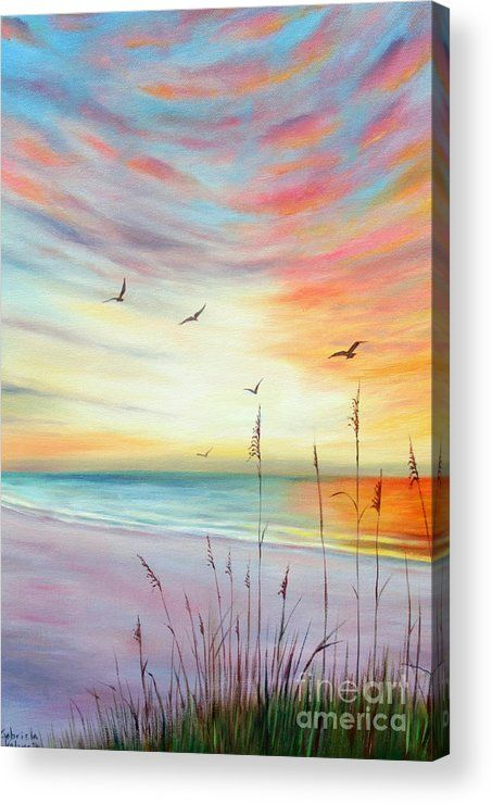 St. Pete Beach Sunset Acrylic Print by Gabriela Valencia. All acrylic prints are professionally printed, packaged, and shipped within 3 - 4 business days and delivered ready-to-hang on your wall. Choose from multiple sizes and mounting options.