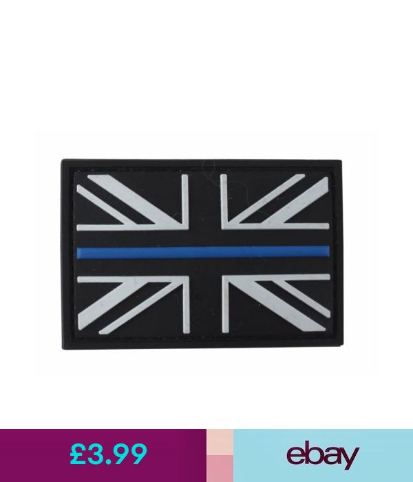 thin blue line union flag patch cops - 600×700