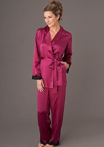 The Indulgence #Silk Wrap Pajama ($225): Now being featured in Muscle & Fitness Hers magazine's Holiday #GiftGuide.