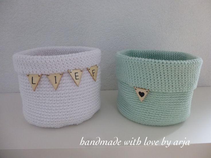 crochet basket to use in nursery