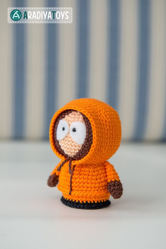 "Crochet Pattern de Kenny McCormick de ""South Park"" (Amigurumi tutoriel fichier PDF) - Aradiya"