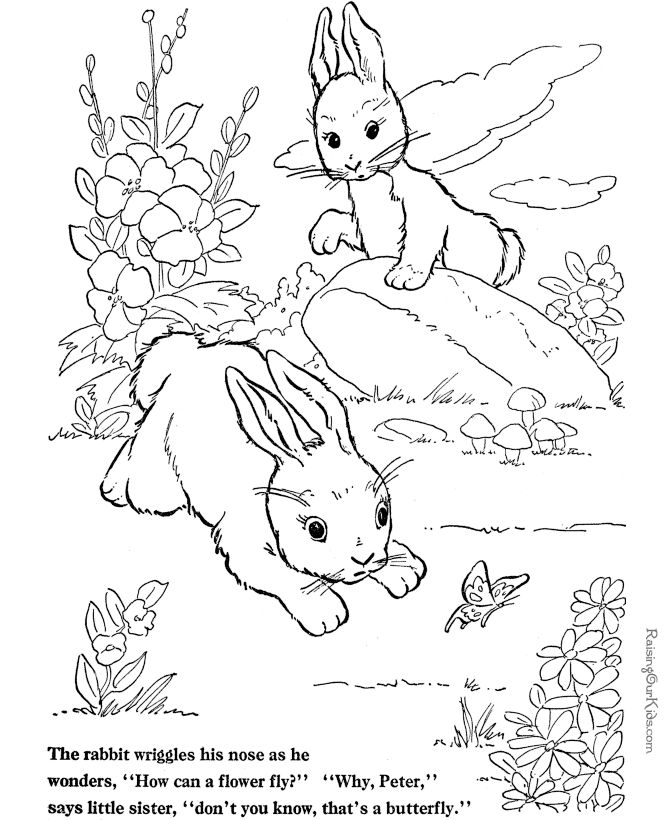 Farm Animal Coloring Page Free Printable Wild Rabbits Play Pages Featuring Hundreds Of Animals Sheets