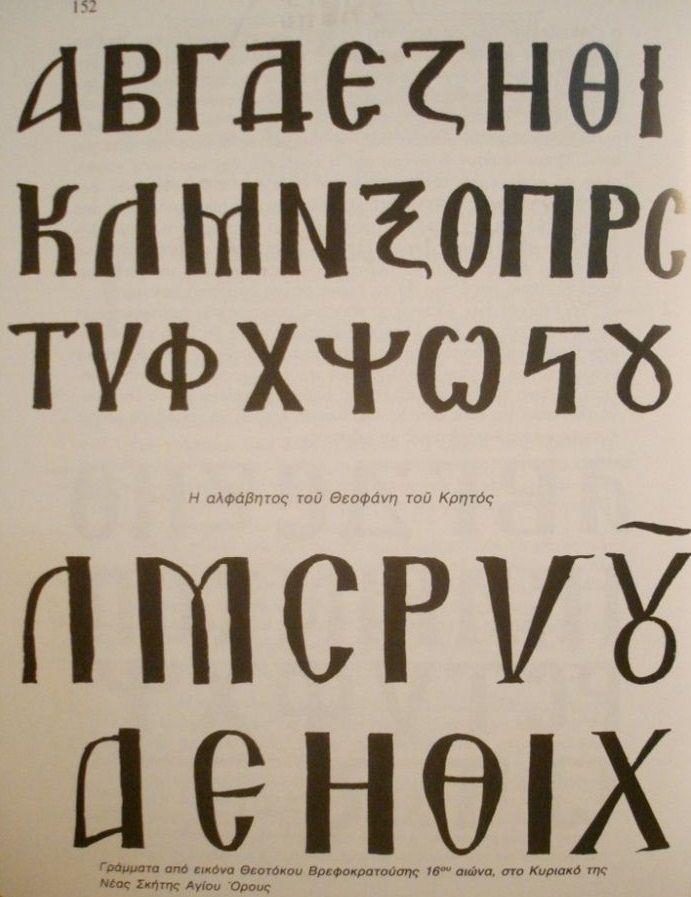 Greek Alphabet for Icons