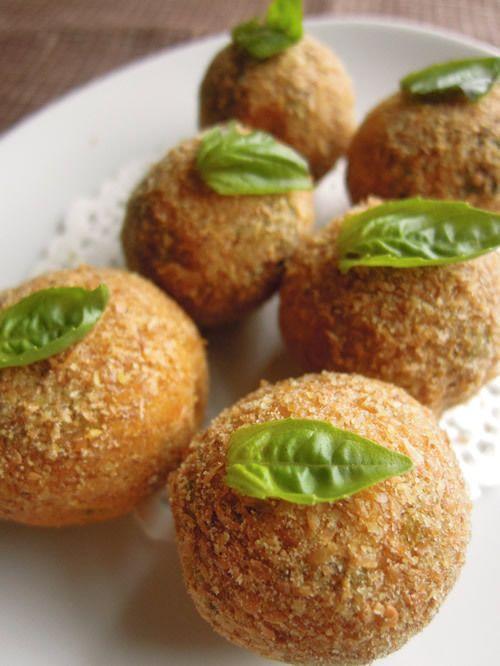 "Kabocha crocchetta walnut ""meat"""