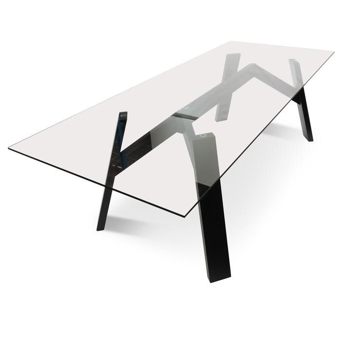 Anya 8 Seater Scandinavian Dining Table 2 4m With Tempered Glass