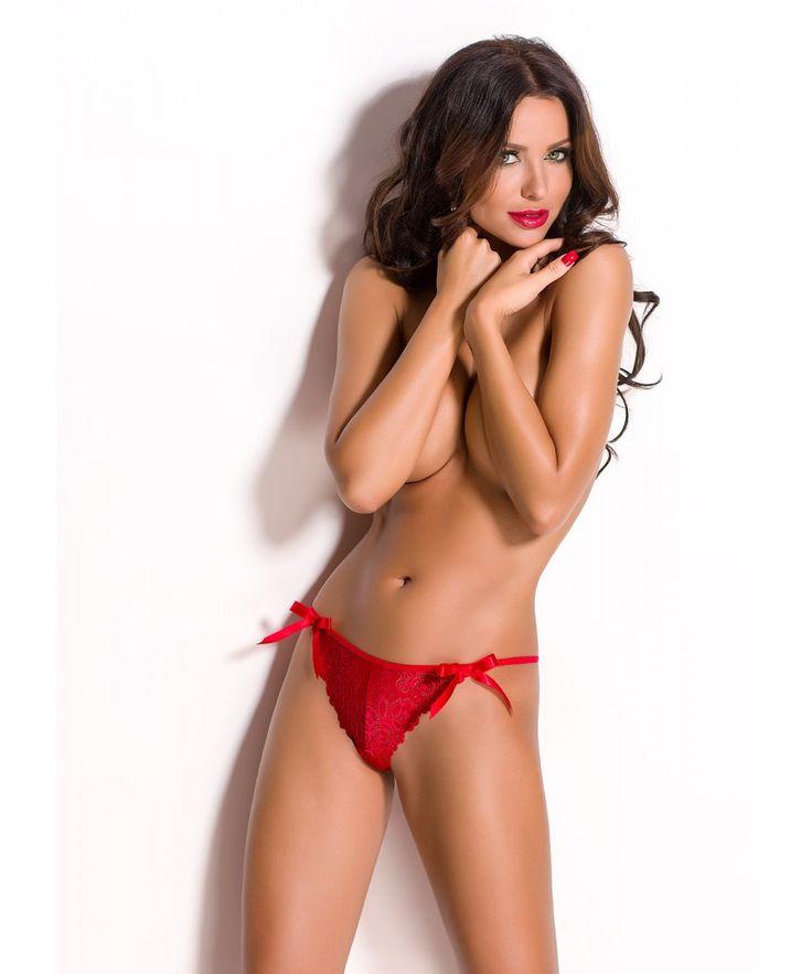 Chilotei #NESSA sexysi incitanti confectionati din#dantela rosiesi avand un design deosebit de atragator, o #lenjerie delicata de la #ANAIS