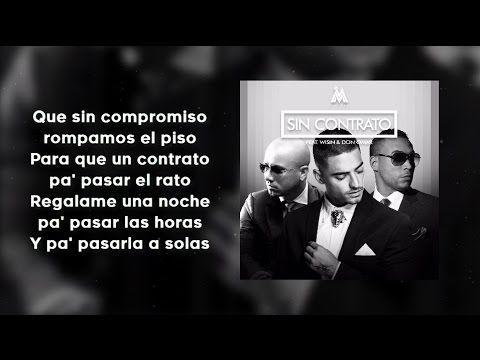 Sin Contrato (Con Letra) Remix - Maluma ft. Don Omar, Wisin