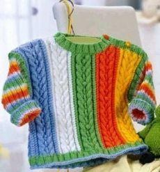 Детский ажурный пуловер спицами. Пуловер детский спицы схема   Домоводство для всей семьи