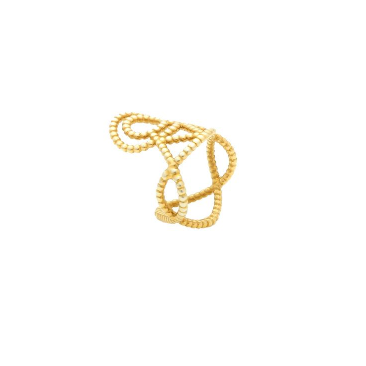 Louise Ring - golden #ring #gold #jewellery