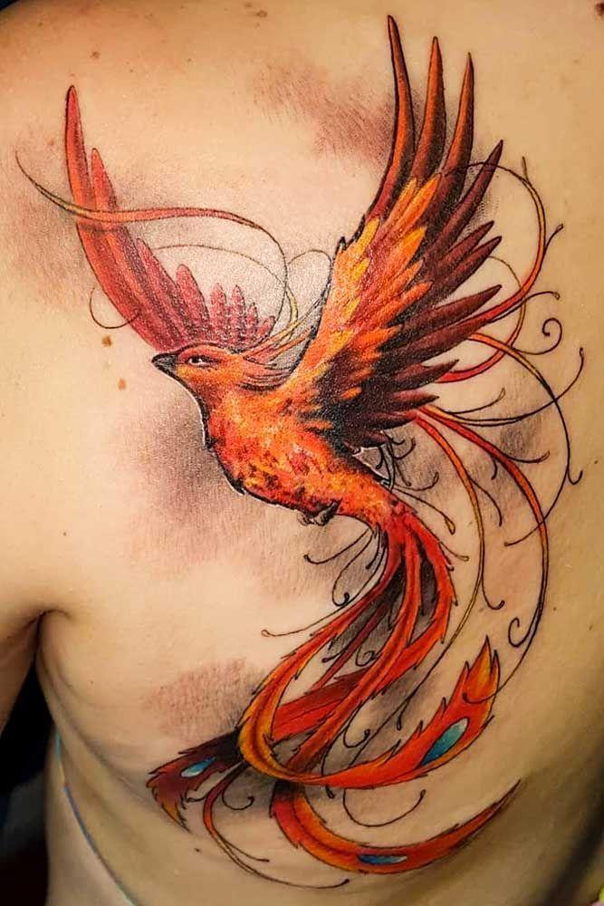 Phoenix Bird Tattoo Design For Shoulder Shouldetattoo Bird Birdtattoo Design Ph Phoenix Bird Tattoos Bird Tattoo Men Phoenix Tattoo