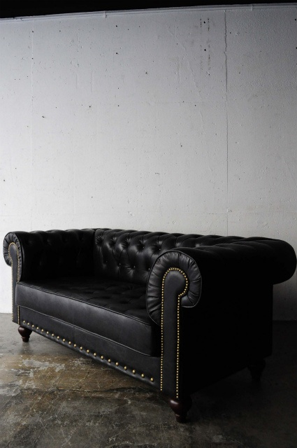 black sofa  maybe with some gold accent pillows