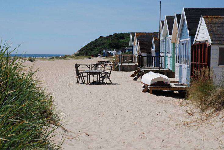 Best place to get away from it all by the sea in Dorset - Mudeford beach huts near Poole and Bournemouth.