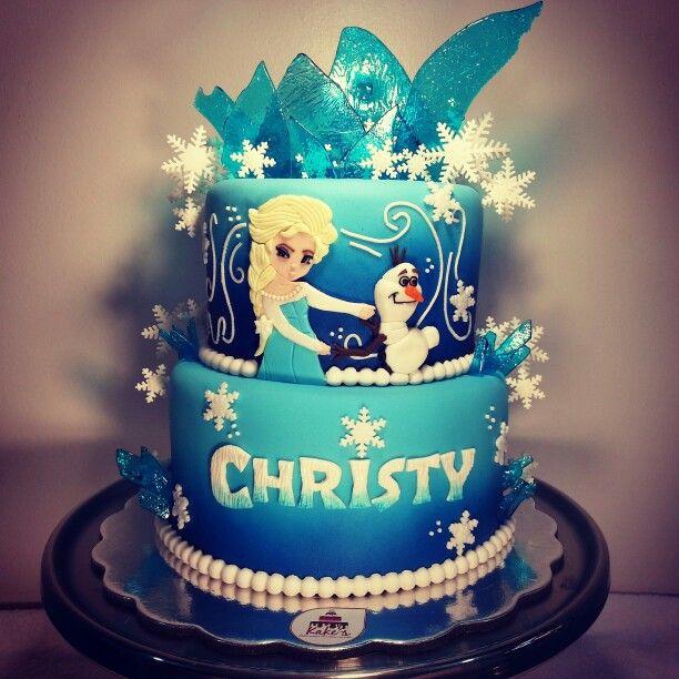Una aventura congelante... Frozen cake.... arte en azúcar!