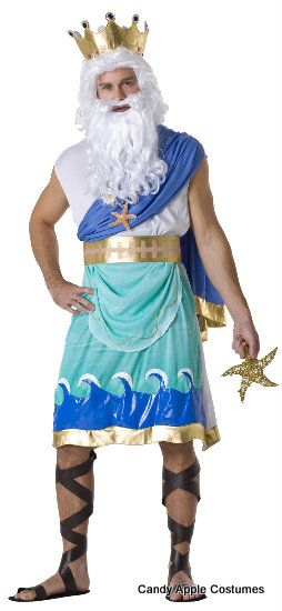 Adult Poseidon God of the Sea Costume - Candy Apple Costumes - Greek & Roman Costumes