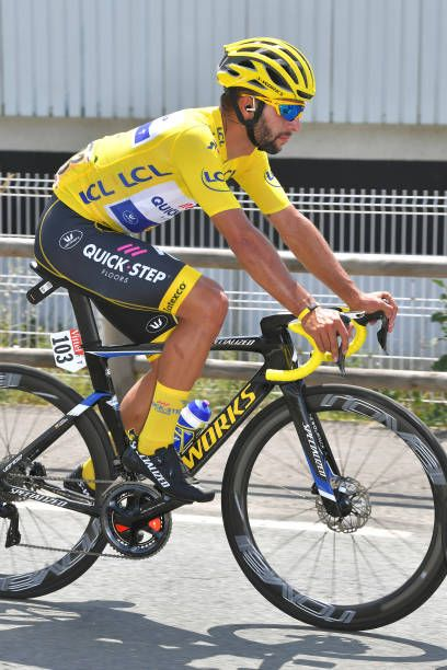 Fernando Gaviria of Colombia and Team QuickStep Floors Yellow Leaders Jersey    during the 105th Tour de France 2018 Stage 2 a 1825km stage from. 8fc7ac444