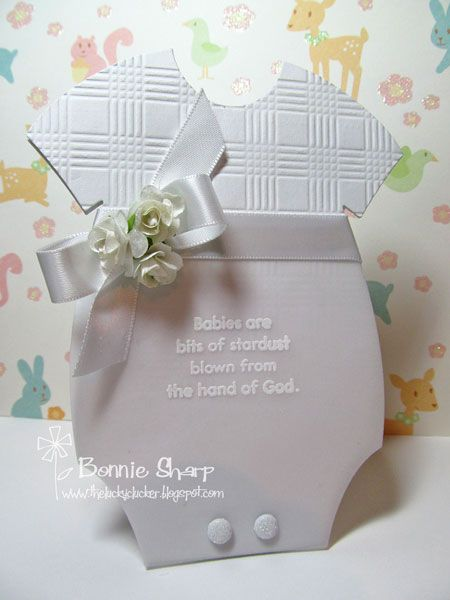 Baptism - White on White by eggette - Cards and Paper Crafts at Splitcoaststampers