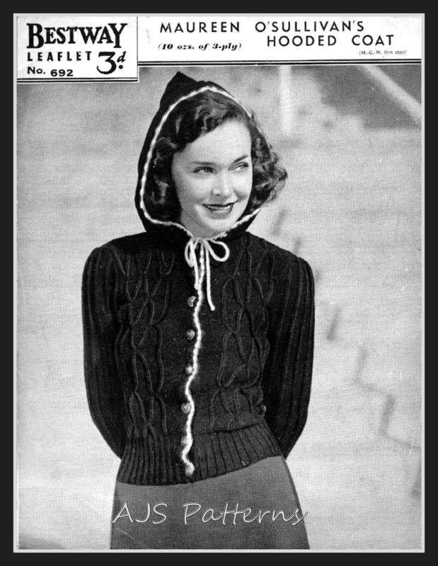 PDF Knitting pattern for a Fabulous 1940's by TheKnittingSheep