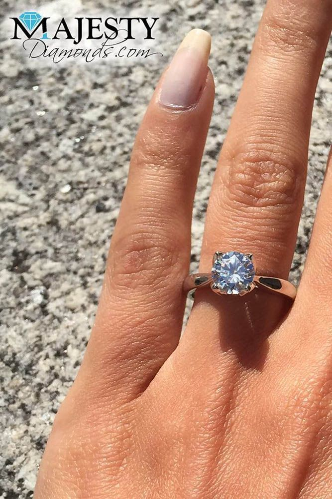 27 Simple Engagement Rings For Girls Who Love Classic ❤️ simple engagement rings round cut unique setting rose gold ❤️ See more: http://www.weddingforward.com/simple-engagement-rings/ #wedding #bride #engagementrings