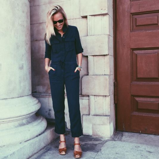 This utility style jumpsuit from Topshop is a fashion press fave. Loved by Glamour UK AND our very own editor, who styles her's with a pair of Swedish Has Beens WE LOVE! Steal the editor's style >>> link after the jump!