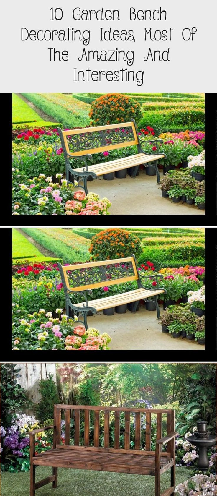 Garden Decorating Ideas On A Budget Easy Diy Projects Garden Bench Diy Colorful Landscaping Colorful Garden