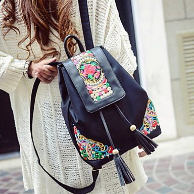 Loving the colorful details from this backpack! Perfect for short trip. Repin if you also like this model.