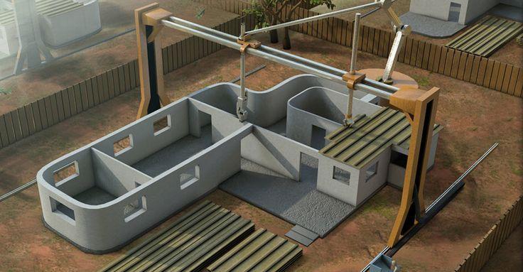 2,500 sq. ft. house built by 3D printer ... Interesting.