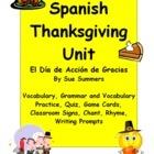 Spanish Thanksgiving Unit - El Dia de Accion de Gracias