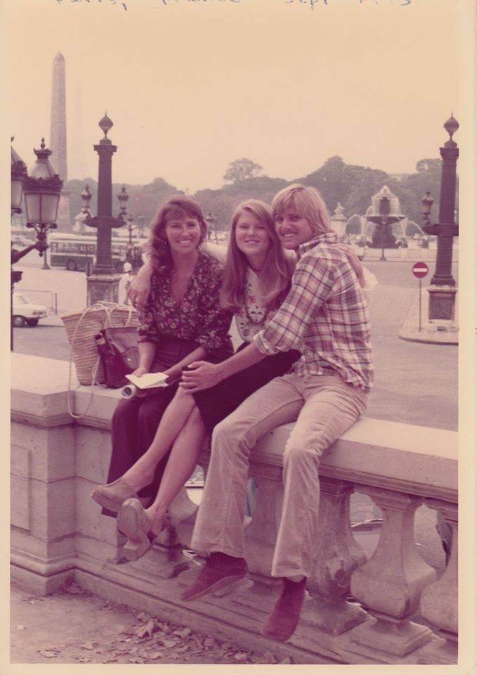 Christie Brinkley as a teen with her mother and brother