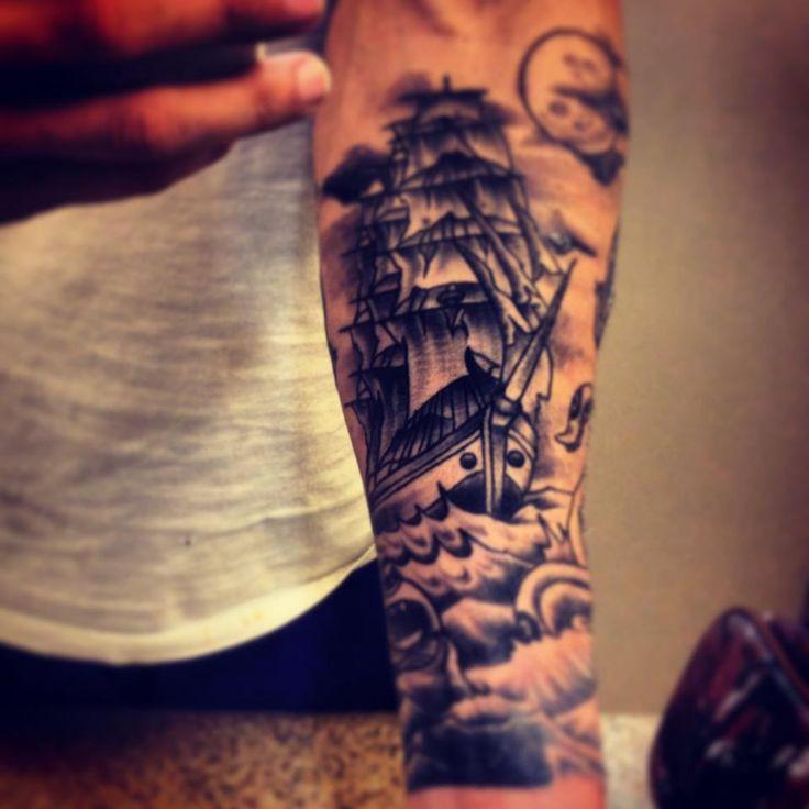 34 best Ship Forearm Tattoos images on Pinterest | Tattoo ideas ...