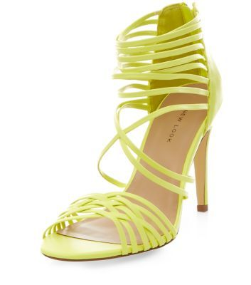 Lime Green Strappy Heels