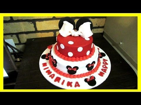 (10) Mickey and Minnie Mouse Theme Cake Tutorial How To Video in Hindi - YouTube