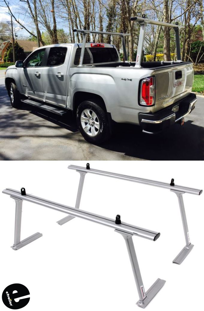 Thule Tracrac Tracone Truck Bed Ladder Rack Fixed Mount 800 Lbs Silver Thule Ladder Racks Th27 Ladder Rack Truck Bed Rails Truck Bed