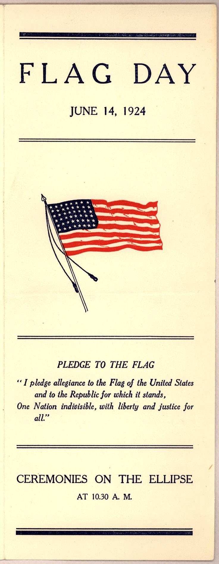 Flag Day, Washington D.C., June 14, 1924 (with original pledge of allegiance)