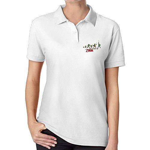 PaRongM Womens The Legend Of Zelda 30th Polo T Shirt White -- Learn more by visiting the image link.(This is an Amazon affiliate link)