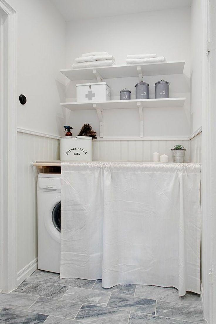 cache machine laver et s che linge 24 id es astucieuses sanitaire pinterest laundry. Black Bedroom Furniture Sets. Home Design Ideas