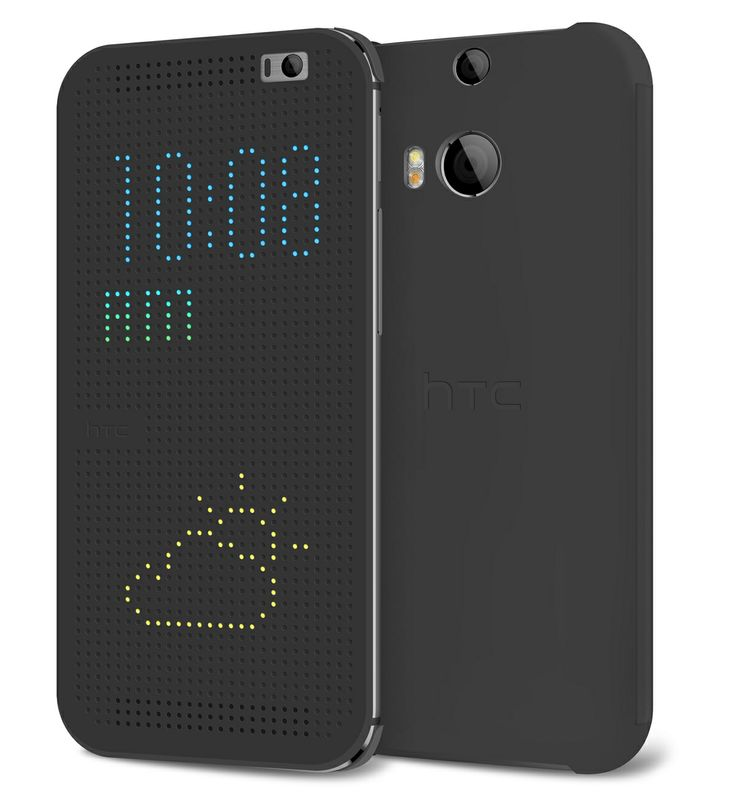 HTC Dot View Case offers instant phone access while the case is still closed. Wrap-around protection with dot matrix cover lets you take calls, receive email notifications, schedule reminders, weather updates, and more, without opening the case.