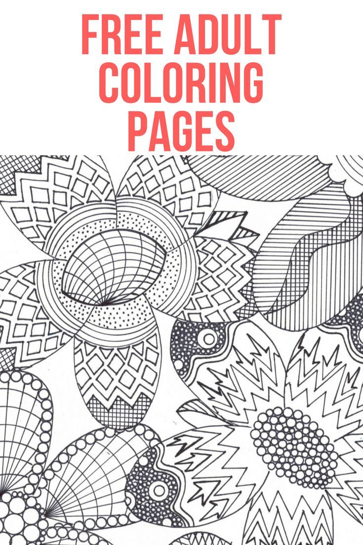 Free Adult Coloring Pages Anxiety Relax Color Art Fun