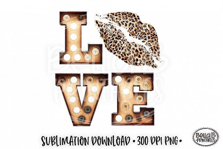 Download Valentine's Sublimation Design, Love Sublimation, Leopard ...