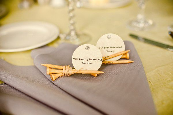 Place Card Ideas - number of golf tees!: Cards Ideas, Cute Cards, Golf Tees Places Cards, Escort Cards, Tables Cards, Place Cards, Landscape Photography, Places Cards Holders, Golf Theme