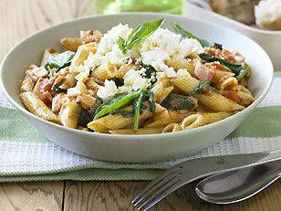 Bacon, spinach and feta pasta - Yahoo! New Zealand Food