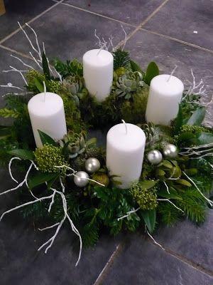 Royal Blommor - livet i en blomsteraffär: Adventskransar..