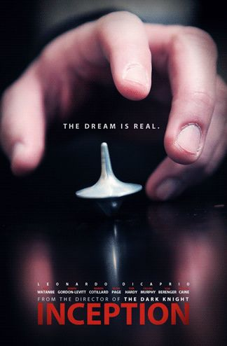 Wonderful cinegraph poster for Inception. No, it never falls over. Or does it?