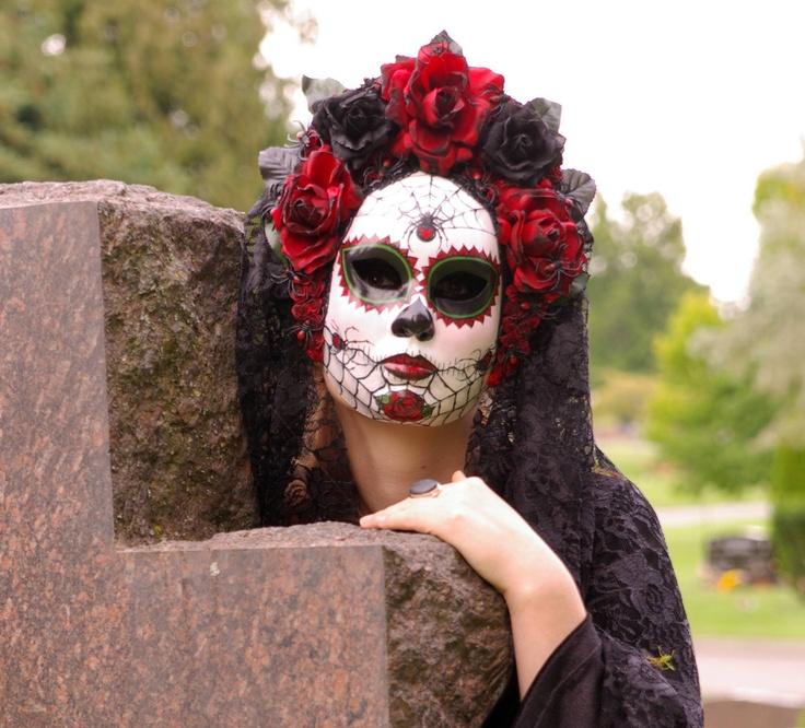 Viuda Negra Mask for Day of the Dead/Dia de los Muetos/Cosplay.