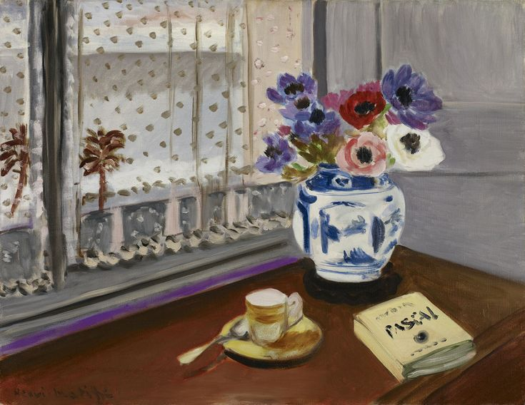 """Henri Matisse (French, 1869–1954), 'Still Life with Pascal's """"Pensées,""""' 1924. Oil on canvas; 19-1⁄4 × 25-1⁄8 in. Minneapolis Institute of Arts, Gift of Ruth and Bruce Dayton, 2010.37 © 2015 Succession H. Matisse / Artists Rights Society (ARS), New York"""