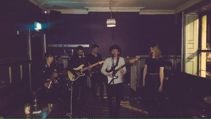 Snap of me and the band performing at @PleasingFeaturz in The Workman's Club on Monday!