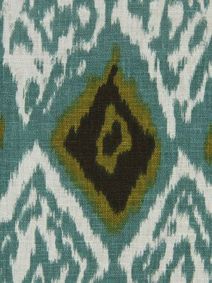Popdecor fabrics, etsyTeal Linen Ikat Fabric - Contemporary Upholstery Fabric - Ikat Drapery Material - Ikat Furniture Fabric - Teal Brown Ivory