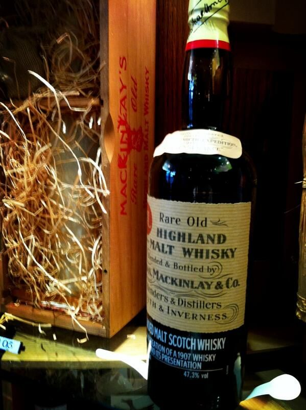 Whiskey that accompanied Shackleton on his expedition to Antarctica for sale at Gleneagles