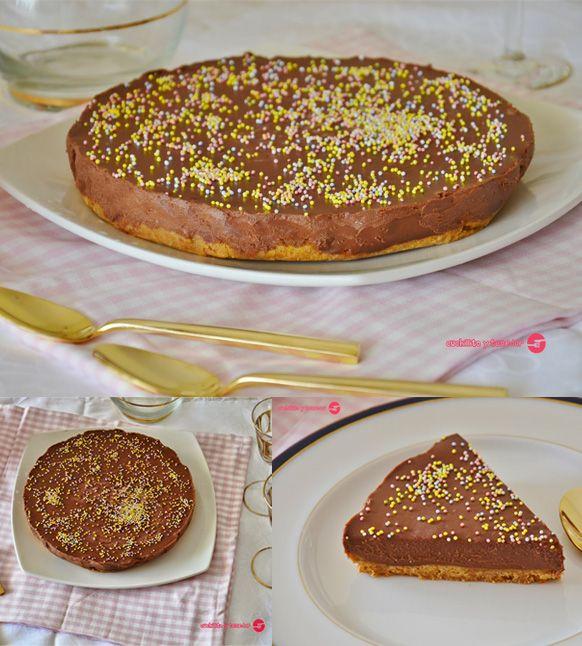 Tarta helada de chocolate / http://www.cuchillitoitenedor.com/